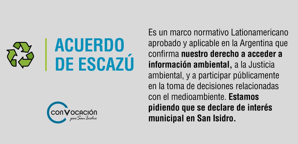 Acuerdo de Escazú en San Isidro