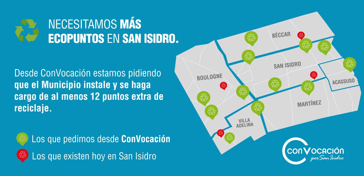 Suficientes ecopuntos para San Isidro