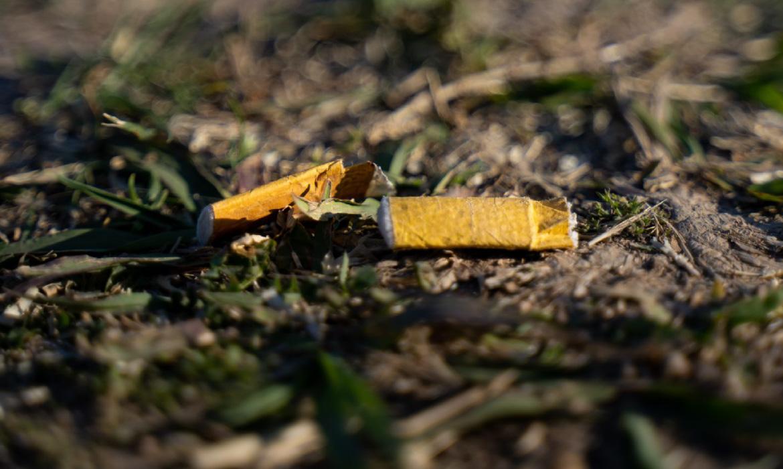 Disposición adecuada de colillas de cigarro y cigarrillo en la vía pública