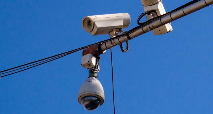 Instalación de cámaras en la zona del CBC de Martínez